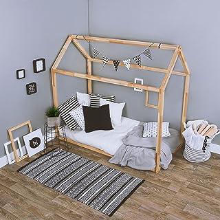 KAGU Cama ASTER, 160 cm x 80 cm x 148 cm, peso 31 kg, forma de una casita, cama infantil, cama casa, cómoda, confortable, segura para niños, de madera, ...