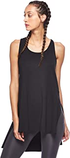 BodyTalk Women's BDTKW LONG TANK TOP Sleeveless Top, Asymmetrical Cut