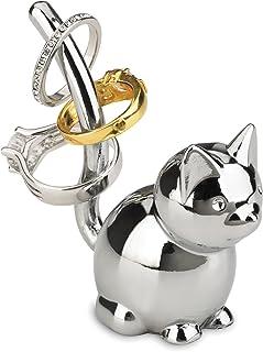 UMBRA Zoola cat. Porte-bagues chat en métal chromé. Dimension de chacun environ 4.5x4.5x7.6cm