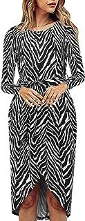 Best long sleeve zebra print dress Reviews