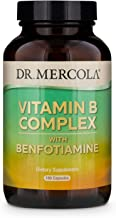 Dr. Mercola Vitamin B Complex with Benfotiamine Dietary Supplement, 90 Servings (180 Capsules), Non GMO, Soy Free, Gluten ...