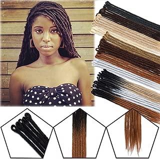 20 inch Dreadlocks Hair Extensions for Men & Women Handmade Twist Crochet Braids Synthetic Fiber for Reggae & Hip-hop (Bleach Blonde, 10 Strands)