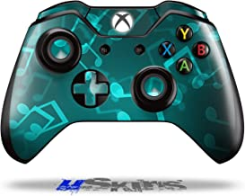 Bokeh Music Neon Teal - Decal Style Skin fits Original Microsoft XBOX One Wireless Controller (CONTROLLER NOT INCLUDED)