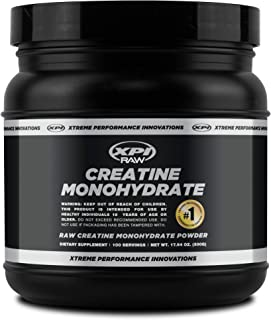 XPI Raw Creatine Monohydrate Powder (500 Grams) - Gluten Free & Non-GMO