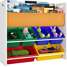 Homfa Estantería Infantil para Juguetes Libros Organizador Infantil de Juguetes Almacenamiento Juguetes con 6 Cajones de 3 Niveles 86 x 26.5 x 78 cm