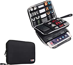 BUBM Double Layer Electronics Organizer/Travel Gadget Bag For Cables,Memory Cards,Flash Hard Drive and More,Fit For iPad Or Tablet(Up To 9.7
