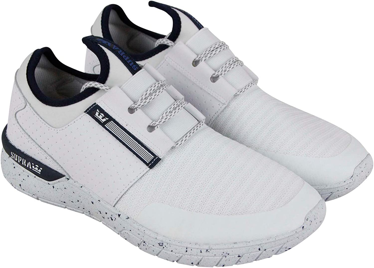 Supra Men's Flow Run Shoes,10.5,White/Navy-White B075ZYWQW9 B075ZYWQW9 B075ZYWQW9 e40d29