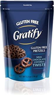 Gratify Gluten Free Pretzel Twists, Chocolate, 5.5 Ounce