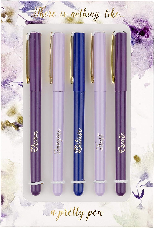 Eccolo Purple Flowers Pen Gift Set Cheap sale Fine Ink Black 25% OFF Ballpoin - Tip