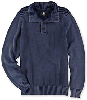 Rock & Republic Mens Henley Mock-Neck Pullover Sweater