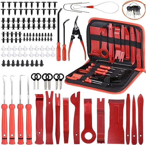 Ensemble de 139 outils de démontage de garnitures, de panneaux de portes de voiture Avec broches de retenue, ensemble...
