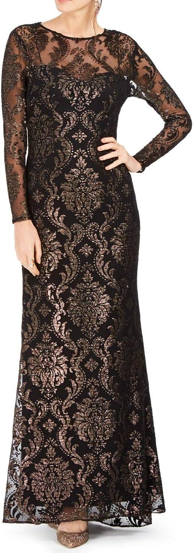 Adrianna Papell Women's Burnout Emblem Gown