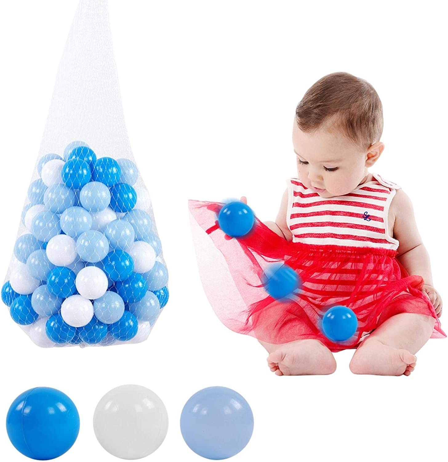 100pcs OFFer LDPE Baby Ocean Ball Toy Max 69% OFF Multicolor Plastic Ba 5.5cm Pit