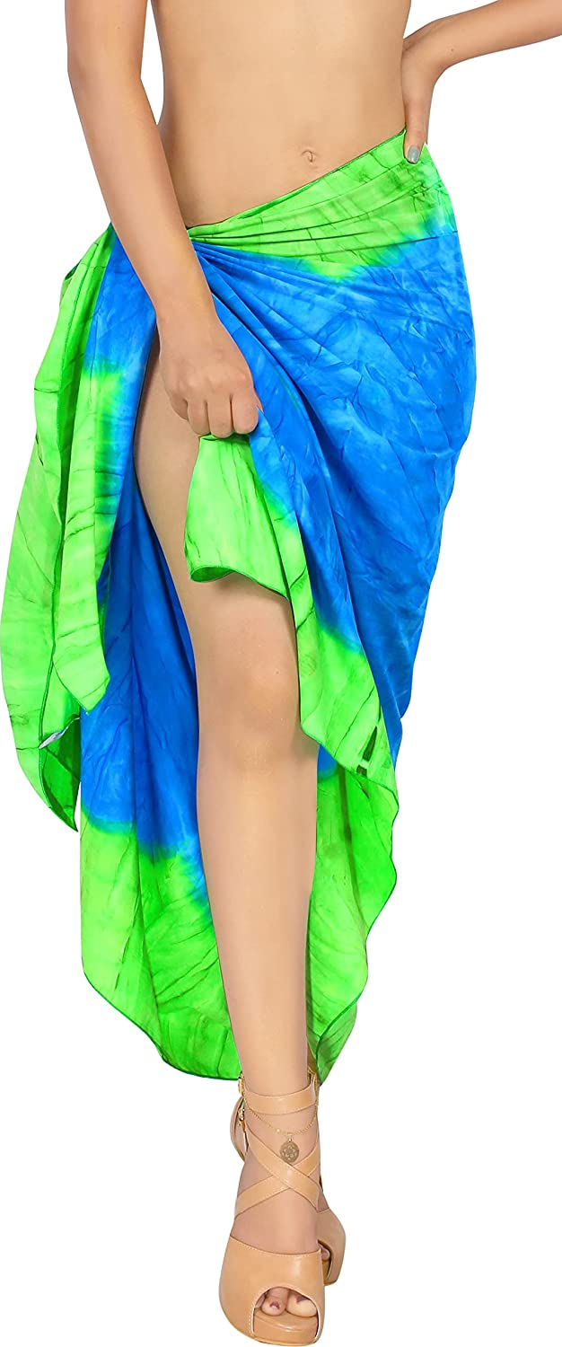 sold out LA Selling and selling LEELA Women's Summer Tie Dye Swimsuit Cover-Ups Sarong Var in