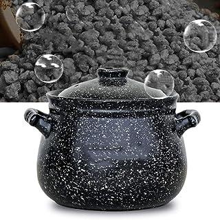 HEMFV Utensilios de Cocina de Cazuela Olla de cerámica cazuela minerales Naturales con Tapa Antiadherente Diseño 4L de Gran Capacidad sin agrietarse cazuela (Size : 4L)