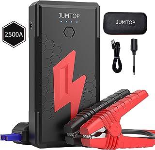 JUMTOP Arrancador de Coches, 20800mAh 2500A Arrancador de Baterias de Coche (Motor 8,0L Gas / 6,5L diésel) -Luz LED, Carga...