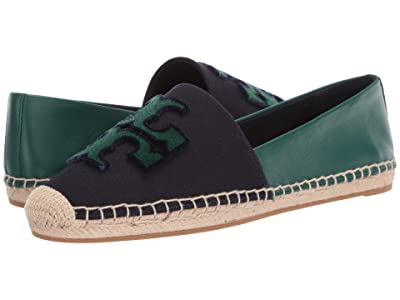 Tory Burch Ines Fil Coupe Espadrille (Perfect Navy/Malachite) Women