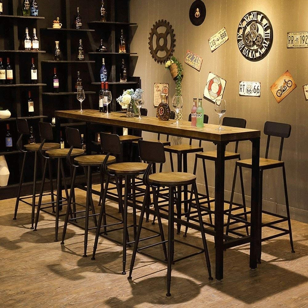 LERSS chaise contre chaise Tabouret rétro tabouret de bar Chaise moderne à domicile hauteur comptoir barstools Chaises for Club Salle à manger Cuisine (Couleur : B) C