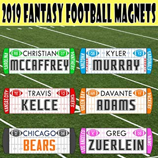 TheDraftParty Fantasy Football Draft Player Names - New 2019/20 Magnetic/Movable - Use with TheDraftParty Fantasy Draft Board