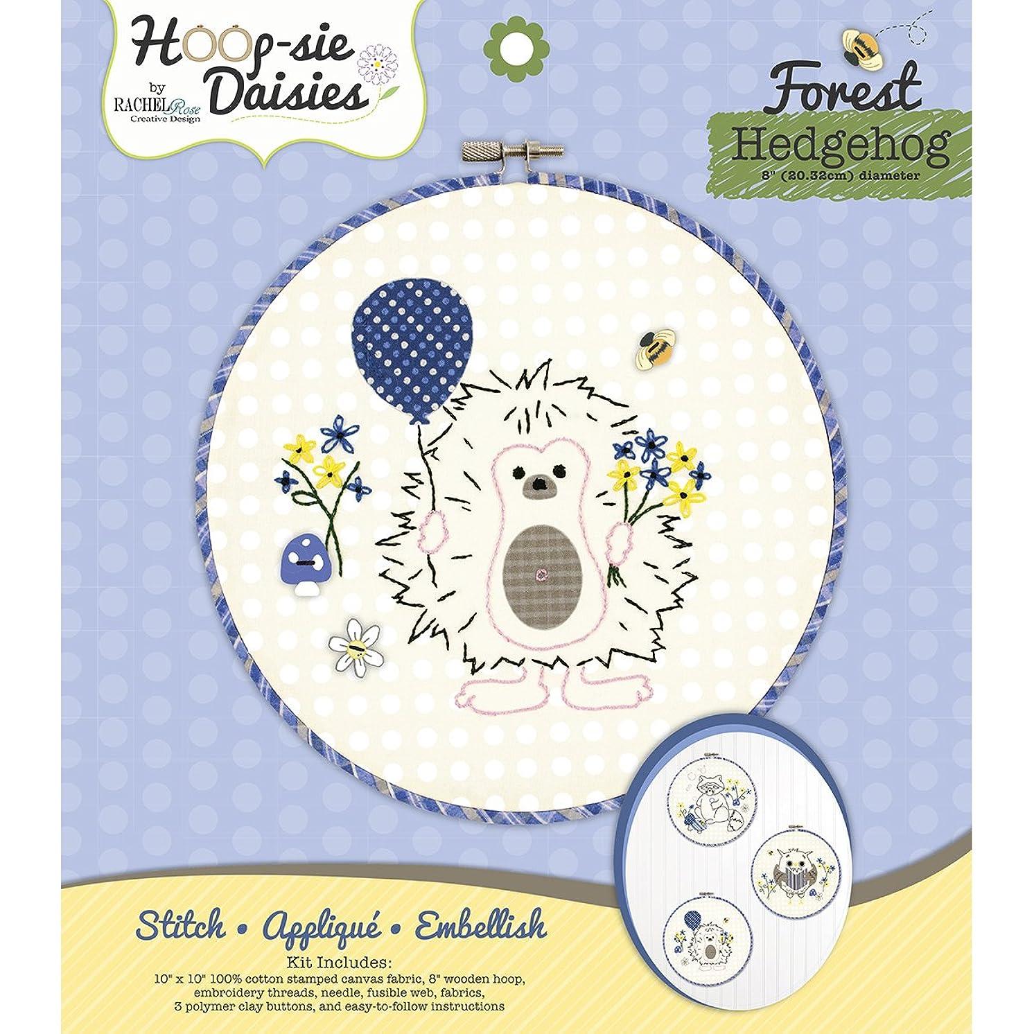 Hedgehog Hoop-Sie Daisies Embroidery Kit-8.5 Round