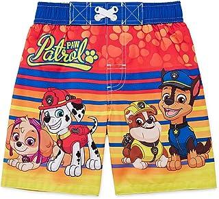 Nickelodeon Baby Boys Paw Patrol Toddler Swim Trunk (Orange Stripe, 3T)