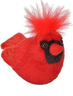 Wild Republic Audubon Birds Northern Cardinal Plush with Authentic Bird Sound, Stuffed Animal, Bird Toys for Kids and Birders