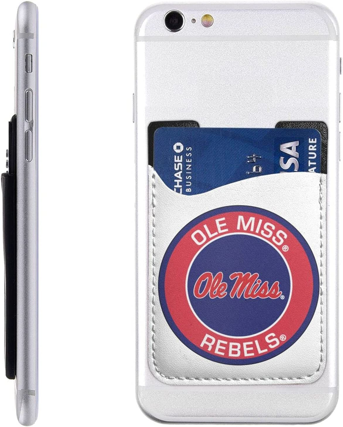 Max 49% OFF Ole Miss Rebels Cell Phone Super sale Card Stick-On Credit W Id Holder