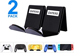 Controller Stand Wall Holder Mount for Xbox One PS4 Switch Pro - Pack of 2 OAPRIRE Acrylic Video Game Controller Accessories with Cable Clips - Black