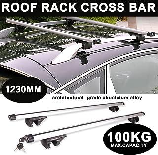antirrobo, bloqueables, de Aluminio, Ancho Ajustable, f/ácil instalaci/ón Huini Cars Barras de Techo para Audi A4 Avant 94-08