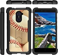 TurtleArmor | Compatible with ZTE Imperial Max Case | Max Duo | Grand X Max 2 [Grip Combat] Hard Shock Impact Dual Armor Kickstand Defender Case Sports and Games - Pile of Baseballs