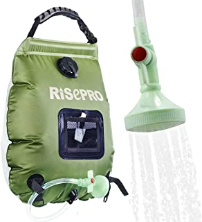 RISEPRO Solar Shower Bag, 5 gallons/20L Solar Heating...