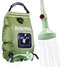 Solar Shower Bag, RISEPRO® 5 gallons/20L Solar Heating Camping Shower Bag Temperature Indicator Hot Water 45°C Hiking Clim...