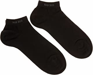 Hugo Boss 2 Pack Ankle Trainer Sneaker Socks Black