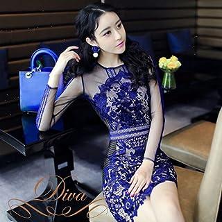 パーティードレス ショートドレス レースドレス 花柄 刺繍 メッシュ袖 エンボス Aライン スレンダー 大きいサイズ ワンピース 20代 30代