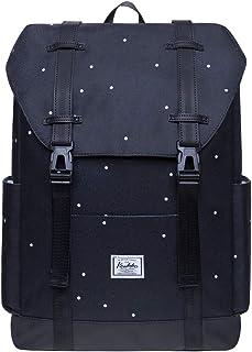 KAUKKO Schule & Freizeit Moderner Tagesrucksack aus Polyester für Uni Büro - Daypack für 14 Laptop, 18L
