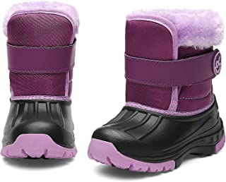 DREAM KIDS Toddler Snow Boots Boys & Girls Lightweight Waterproof Cold Weather Winter Outdoor Boots (Toddler/Little Kid)