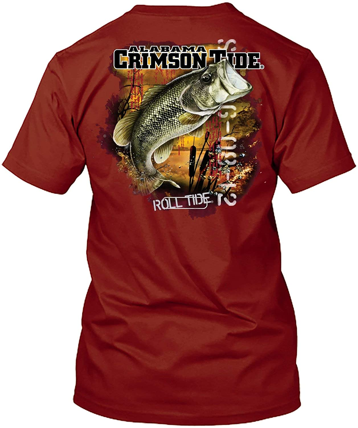 New World Graphics NCAA Bass Fishing T Shirt Officially Licensed Apparel