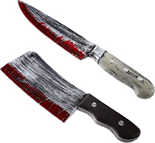 2 Pieces Plastic Bloody Knife Halloween Bloody Toy Knife for Halloween Costume Accessory (Style 3)