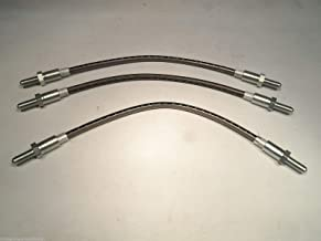 EPC Stainless Steel Brake Hose/Line Kit Fits Compatible with Ford Cortina 1300 & 1500
