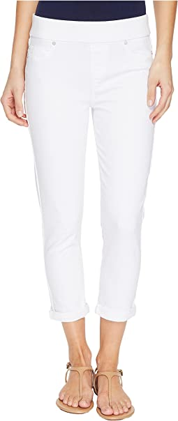 Liverpool - Sienna Pull-On Rolled-Cuff Capris Slub Stretch Twill in Bright White