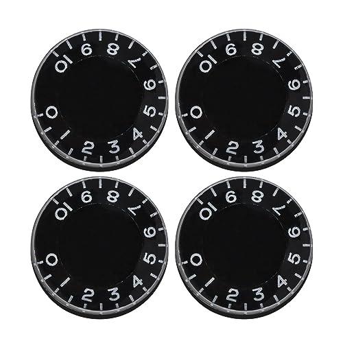 pulsante del volume 3 pz Volume Controller tono argento per chitarra R SODIAL