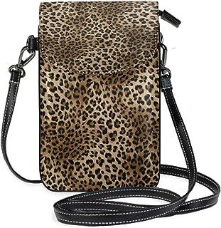 ZZKKO Mini-Umhängetasche mit Leopardenmuster, für Handy, Geldbörse, Geldbörse, Leder, für Damen, Freizeit, Alltag, Reisen,...