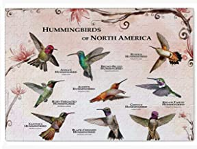 Hand crafted Summer Hummingbird Zen Puzzle eco-friendly American made artisanal wooden jigsaw puzzle