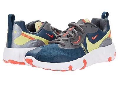 Nike Kids Renew Lucent 2 (Big Kid) (Deep Ocean/Limelight/Bright Crimson) Kids Shoes