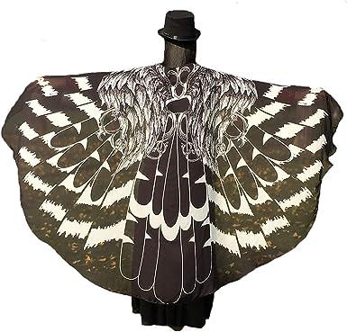 万圣节/派对蝴蝶翅膀女士服装,柔软面料蝴蝶披肩仙女女士Nymph Pixie Festival Rave 连衣裙