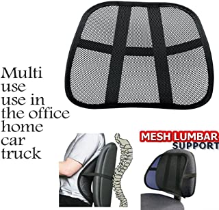 JM SELLER Car Seat Chair Massage Back Lumbar Support Mesh Ventilate Cushion Pad (Set of 2