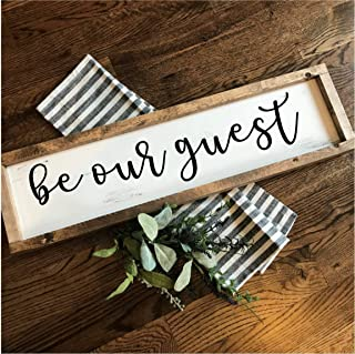Be Our Guest | Hand-painted Over-sized Wooden Sign | Modern Farmhouse Style | Fixer Upper inspired home decor