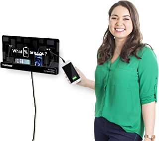 KwikBoost Wall Mount Cell Phone Charging Station | Multi-Device Kiosk with 8 Ports | Compatible with iPhone, iPad, Samsung, Tablets and More! (18