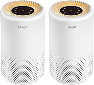 LEVOIT Air Purifier for Home Smokers Allergies and Pets Hair, True HEPA Filter, Quiet in Bedroom,Filtration System Cleaner Eliminators, 99.97% Odor Smoke Dust Mold, Night Light&Timer, Vista 200, 2PACK