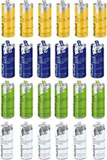 LUV BOX - Red Bull Energy Variety Cans Pack (8.4oz / 24pk), Yellow Tropical Fruits, Green Kiwi Apple, Blue, Blue Berry & Coconut Berry Editions